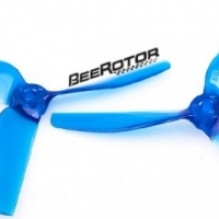 2 Pairs BeeRotor 5x5x3 - Propeller Transparent Blue