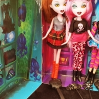 4 x Goth looking dolls to add to your collection