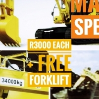 *MAJOR SPECIAL* Bobcat/Overhead Crane/Excavator for R3000 each at RAINMAKERS+ FREE FORKLIFT course!