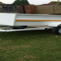 Tipper trailers and flatbed car trailer