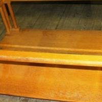 Oak Coffee Table Glass S023880B