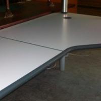 L-Shape Desk (Grey White)