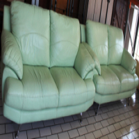 2 Piece Leather Couches S023871A