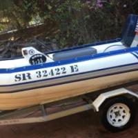 Inflatable Duck Semi Rigid 4.2m Boat
