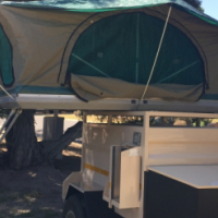 Off Road Trailer with Rooftop Tent.