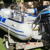 Rubberduck with 80HP Mercury For Sale