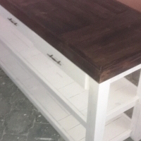 Food Server Farmhouse series 1800 with 3 drawers - extra width Two tone
