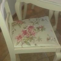 Imbuia bal en klou tafel en 4 stoele