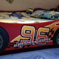 Lightning Racing Car bed for sale - EXCELLENT condition.