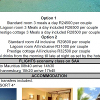 Mauritius 4 star 7 nights all inclusive for R14900 per person sharing