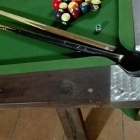 Pool table with extra marble top.
