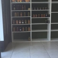 3 by shelves.