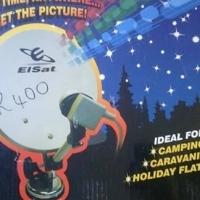 Elsat portable satellite dish.