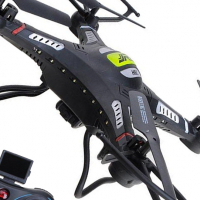 Radio control camera drone - powerful quadcopter with automatic altitude hold function
