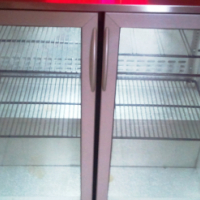 Double door under counter bar fridge