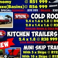 April Specials On Mobile Toilets and Cold Rooms