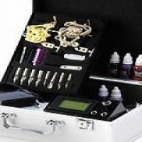 Tattoo Complete Kit - Pro Kit 2 with 2 Machines!! Carry Case Included!!
