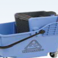 NUMATIC PLASTIC BUCKET & WRINGER - BLUE - DUAL COMPARTMENT