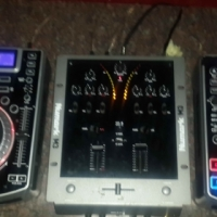 numark cdj's x2 and mixer