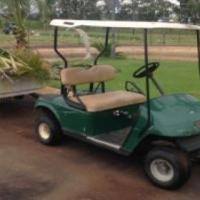 Ez-go Petrol Golf cart with trailer