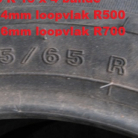 Tyres x 4 size 185/65 R 15