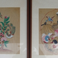Antique - Bird Paintings - Very old - Framed Pictures - in perfect condition
