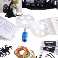 Brand new! Quality tattoo kit with 1 tattoo machine, 1 grip and 1 bottle of black Ink