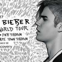 Justin Bieber FNB Stadium 14th May - 4 Tickets Seated