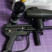 tippmann a5 paintball gun with auto response trigger in box