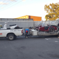 We transport motorcycles door to door all over SA and Namibia.