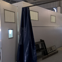 Large size Sprinter/Quantum spray booth.9.2x4x3.5 .Full downdraft / extract only /heated