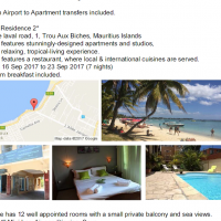 Mauritius Holiday R11 000 per person