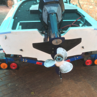 40hp motor good condition LS electric start Yamaha with cable's to swap for 60hp t&t