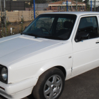 A Vw Golf 1 velocity, 2009 model, factory a/c, c/d player, central locking, white  in color, 85000km