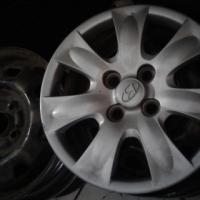 Hyundai Getz stardard steal rims size 14 and 15