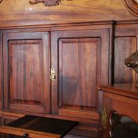 Cape Dutch Gable Top Solid Stinkwood Corner Cupboard / Drinks Cabinet.