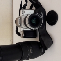 Pentax 35mm Camera with Tamron Zoom Lens