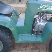 Mini tractor johndeertie with 150cc engine plus airguns to swop for big 4x4 quad.dads & kids farm