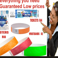 Print  you  event ticket or wristbands everything you need at Guaranteed Low prices