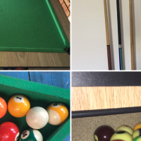 Pool table with extra
