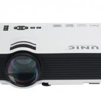 LCD Portable Home Cinema Projector Ocular-View - 800 Lumen, 800:1 Contrast Ratio, HDMI, USB, SD Card