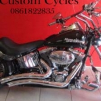 Very Nice Softail Bober with Lots of Chrome!
