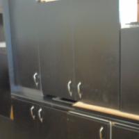 kitchen-Black Melamine Impact Kitchen