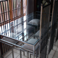 Wrought iron dining room suite