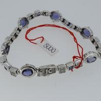 9ct White Gold Jenner Clifford iolite bracelet
