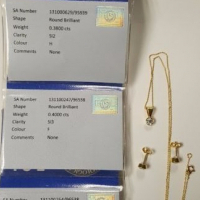 Diamond Earring and Pendant Set