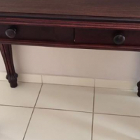 two drawer small table.