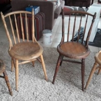 4 old style chairs