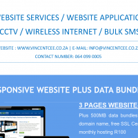 Responsive Website with internet bundles