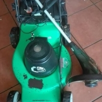 Electric lawnmover with weateater
